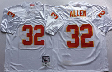 Mitchell And Ness Chiefs #32 marcus allen white Throwback Stitched NFL Jersey