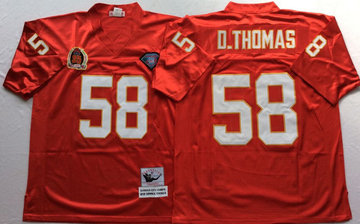 Mitchell And Ness Chiefs #58 derrick thomas red Throwback Stitched NFL Jersey