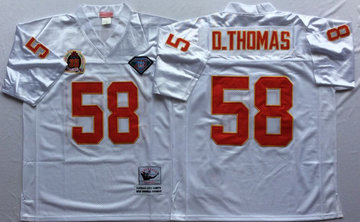 Mitchell And Ness Chiefs #58 derrick thomas white Throwback Stitched NFL Jersey