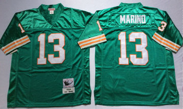 Mitchell And Ness Dolphins  #13 dan marino green Throwback Stitched NFL Jersey
