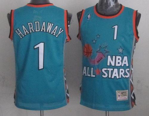 Mitchell And Ness Magic #1 Penny Hardaway Light Blue 1996 All Star Stitched NBA Jersey