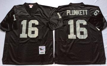 Mitchell And Ness Raiders #16 16 Jim Plunkett balck Throwback Stitched NFL Jersey