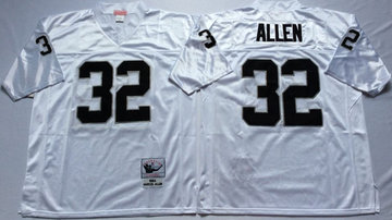 Mitchell And Ness Raiders #32 32 Marcus Allen White Throwback Stitched NFL Jersey