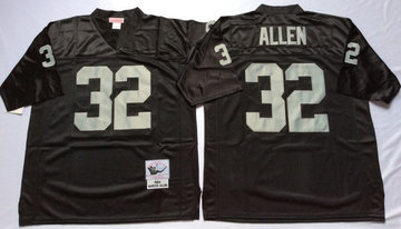 Mitchell And Ness Raiders #32 Marcus Allen balck Throwback Stitched NFL Jersey