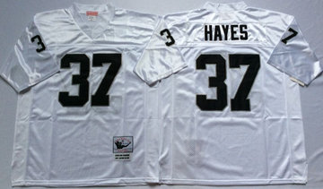 Mitchell And Ness Raiders #37 Lester Hayes White Throwback Stitched NFL Jersey