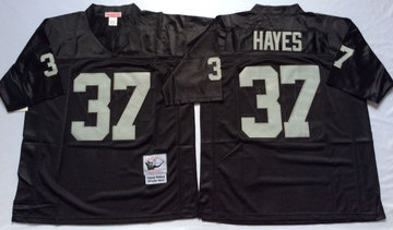Mitchell And Ness Raiders #37 Lester Hayes balck Throwback Stitched NFL Jersey