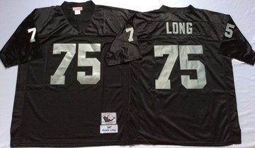 Mitchell And Ness Raiders #75 Howie Long balck Throwback Stitched NFL Jersey