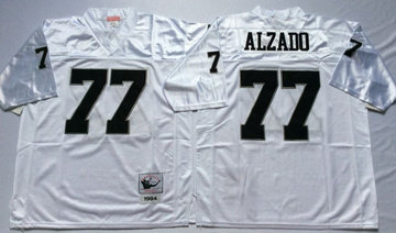 Mitchell And Ness Raiders #77 lyle alzado White Throwback Stitched NFL Jersey