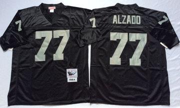 Mitchell And Ness Raiders #77 lyle alzado balck Throwback Stitched NFL Jersey