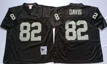 Mitchell And Ness Raiders #82 Jordy Nelson balck Throwback Stitched NFL Jersey
