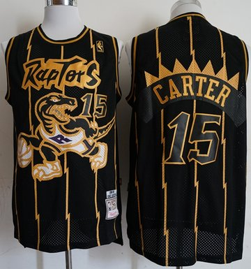 Mitchell And Ness Raptors #15 Vince Carter Black Throwback Stitched NBA Jersey