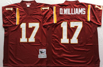 Mitchell And Ness Redskins #17 d.williams Red Throwback Stitched NFL Jersey