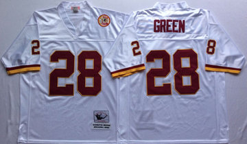 Mitchell And Ness Redskins #28 Darrell Green white Throwback Stitched NFL Jersey