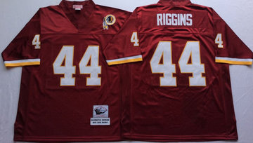 Mitchell And Ness Redskins #44 John Riggins Red Throwback Stitched NFL Jersey
