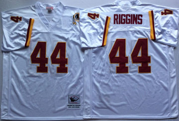 Mitchell And Ness Redskins #44 John Riggins white Throwback Stitched NFL Jersey