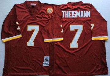 Mitchell And Ness Redskins #7 joe theismann Red Throwback Stitched NFL Jersey