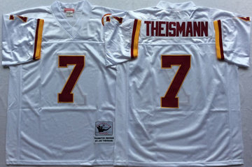Mitchell And Ness Redskins #7 joe theismann white Throwback Stitched NFL Jersey