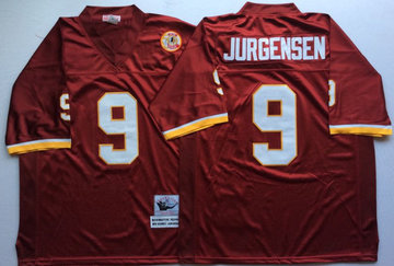 Mitchell And Ness Redskins #9 sonny jurgensen Red Throwback Stitched NFL Jersey
