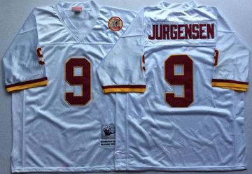Mitchell And Ness Redskins #9 sonny jurgensen white Throwback Stitched NFL Jersey