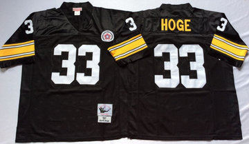 Mitchell And Ness Steelers #33 Merril Hoge Black Throwback Stitched NFL Jersey