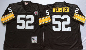 Mitchell And Ness Steelers #52 mike webster Black Throwback Stitched NFL Jersey