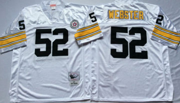 Mitchell And Ness Steelers #52 mike webster white Throwback Stitched NFL Jersey