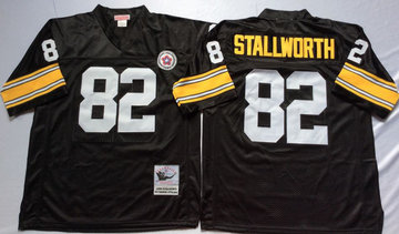 Mitchell And Ness Steelers #82 82 John Stallworth Black Throwback Stitched NFL Jersey
