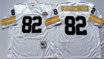 Mitchell And Ness Steelers #82 82 John Stallworth white Throwback Stitched NFL Jersey