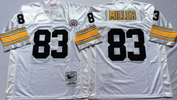 Mitchell And Ness Steelers #83 Heath Miller white Throwback Stitched NFL Jersey
