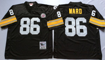 Mitchell And Ness Steelers #86 Hines Ward Black Throwback Stitched NFL Jersey