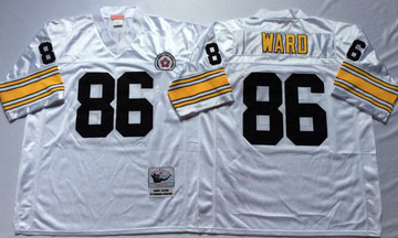 Mitchell And Ness Steelers #86 Hines Ward white Throwback Stitched NFL Jersey