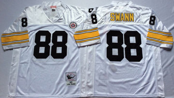 Mitchell And Ness Steelers #88 Lynn Swann  white Throwback Stitched NFL Jersey