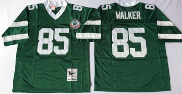 Mitchell And Ness jets #85 wesley walker green  Throwback Stitched NFL Jerseys