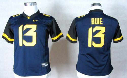 Mountaineers #13 Andrew Buie Navy Blue Women's Stitched NCAA Jersey