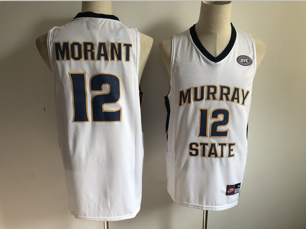Murray State 12 Ja Morant White Nike College Basketball Jersey