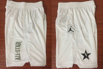 NBA White Jordan Swingman 2018 All-Star Shorts