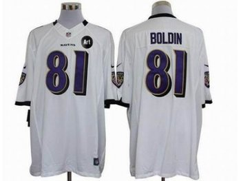 NEW Baltimore Ravens #81 Anquan Boldin white jerseys(Limited Art Patch)