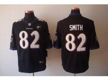 NEW Baltimore Ravens #82 Torrey Smith black jerseys(Limited Art Patch)