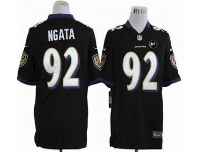 NEW Baltimore Ravens #92 Haloti Ngata black jerseys(Game Art Patch)