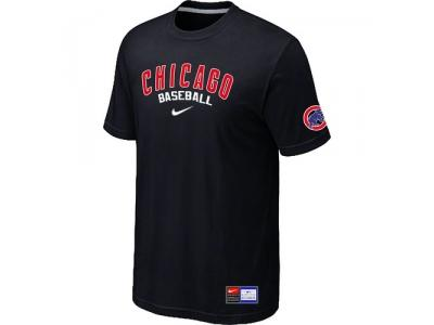 NEW Chicago Cubs Black Short Sleeve Practice T-Shirt