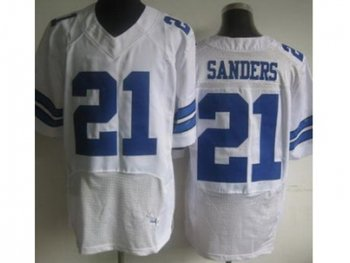 NEW Dallas Cowboys #21 Deion Sanders White Jerseys(Elite)