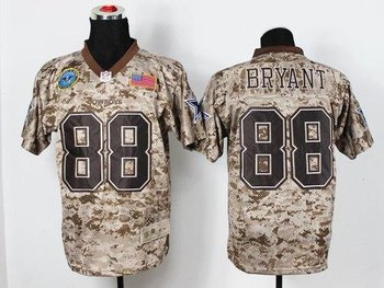 NEW Dallas Cowboys #88 Dez Bryant Camo NFL Elite USMC Jersey(USA)