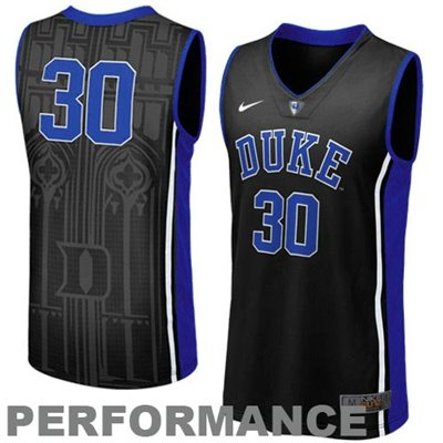 NEW Duke Blue Devils #30 Men's Swingman Aerographic Basketball Jersey - Black