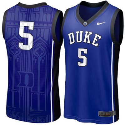 NEW Duke Blue Devils #5 Elite Aerographic Replica Basketball Jersey - Duke Blue