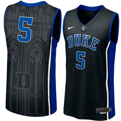 NEW Duke Blue Devils #5 Men's Swingman Aerographic Elite Basketball Jersey - Black