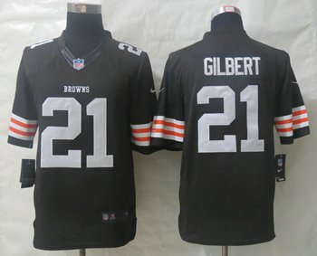 NEW NFL Cleveland Browns #21 Justin Gilbert Brown Limited Jersey