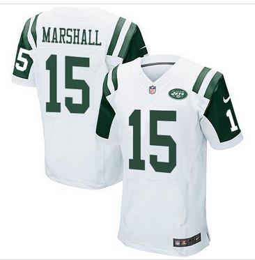 NEW New York Jets #15 Brandon Marshall White Men's Stitched NFL Elite Jersey