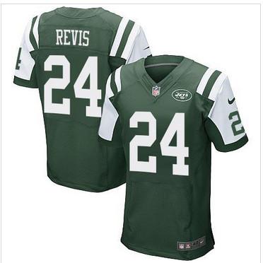 NEW New York Jets #24 Darrelle Revis Green Team Color Men's Stitched NFL Elite Jersey