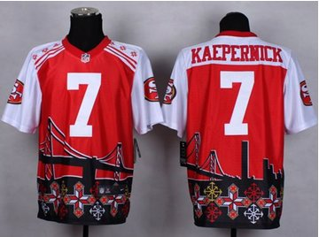 NEW San Francisco 49ers #7 Colin Kaepernick Red NFL Elite Noble Fashion Jersey Size 56