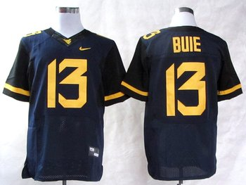 NEW West Virginia Mountaineers Andrew Buie 13 College Football Elite Jerseys - Blue